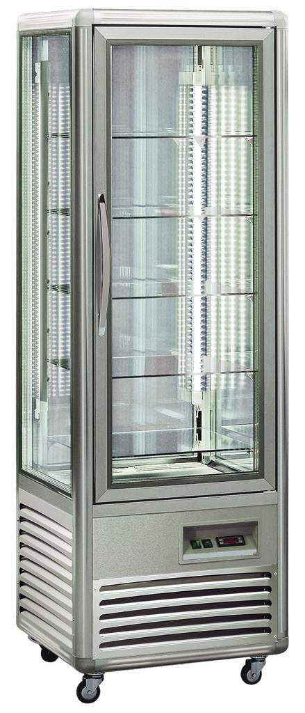 KBS Kuchenvitrine Snelle 350 Q LED (silber)