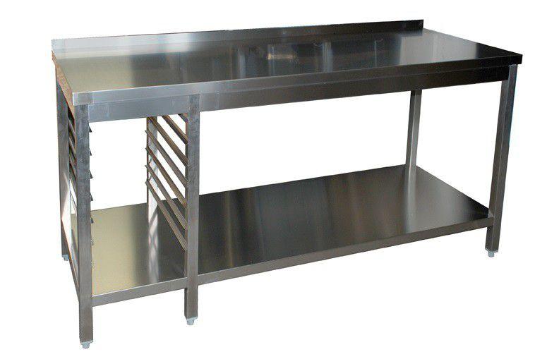 edelstahl arbeitstisch ggg 700 mm tief mit auflagewinkel gn 1 1 arbeitstisch m bel gastro. Black Bedroom Furniture Sets. Home Design Ideas