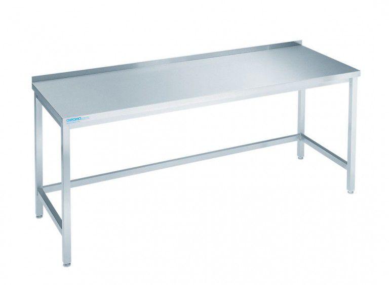 edelstahl arbeitstisch chromonorm 700 mm tief arbeitstisch m bel gastro kurz. Black Bedroom Furniture Sets. Home Design Ideas