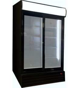 Esta Glasschiebetüren-Kühlschrank SD 1001 GLSS