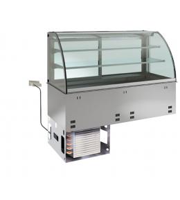 KBS Einbau-Kühlvitrine mit Kühlplatte E-EKVP 2A GN 2/1 - geschlossen