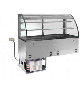 KBS Einbau-Kühlvitrine mit Kühlplatte E-EKVP 2A GN 2/1 - kundenseitig offen
