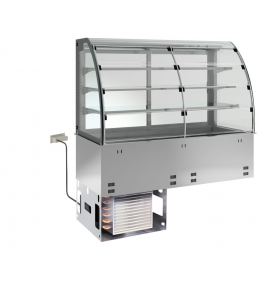 KBS Einbau-Kühlvitrine mit Kühlplatte E-EKVP 3A GN 4/1 - Selbstbedienung