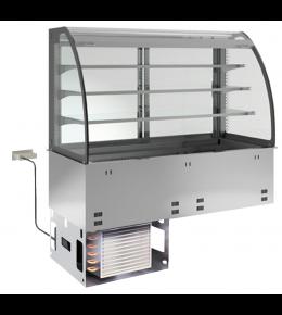 KBS Einbau-Kühlvitrine mit Kühlplatte E-EKVP 3A GN 2/1 - kundenseitig offen