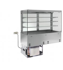 KBS Einbau-Kühlvitrine mit Kühlwanne P-EKVW 3A GN 2/1 - kundenseitig offen