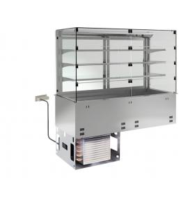 KBS Einbau-Kühlvitrine mit Kühlwanne P-EKVW 3A GN 2/1 - Selbstbedienung