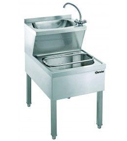 Bartscher Handwasch-Ausgussbecken Kombination 700 mm tief