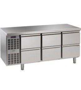 Alpeninox Kühltisch, 3 Abteile CLM 3-7051
