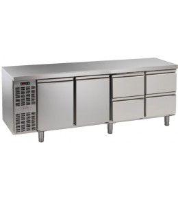 Alpeninox Kühltisch, 4 Abteile CLM 4-7031