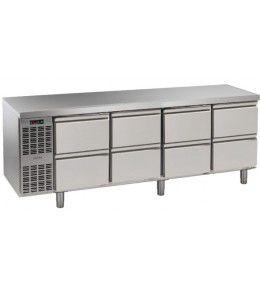 Alpeninox Kühltisch, 4 Abteile CLM 4-7051