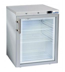 NordCap Glastürkühlschrank KU 200 G INOX