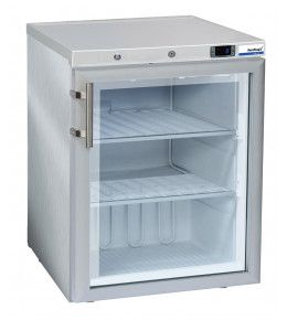 NordCap Glastür-Tiefkühlschrank TKU 200 G INOX