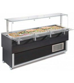 NordCap Salatbar TR-BLUE 6/1-UMLUFT SERVICE