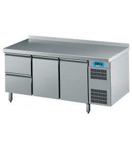 Chromonorm Kühltisch CNS, 2 Türen, 2 Schubladen