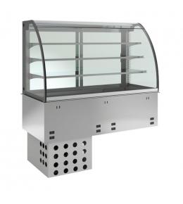 KBS Einbau-Kühlvitrine mit Kühlplatte E-EKVP 3A GN 2/1 - geschlossen