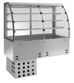 KBS Einbau-Kühlvitrine mit Kühlplatte E-EKVP 3A GN 3/1 - Selbstbedienung