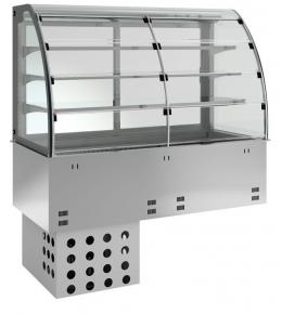 KBS Einbau-Kühlvitrine mit Kühlplatte E-EKVP 3A GN 4/1 - kundenseitig offen