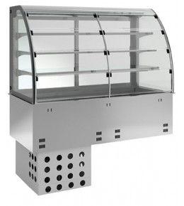 KBS Einbau-Kühlvitrine mit Kühlplatte E-EKVP 3A GN 5/1 - Selbstbedienung