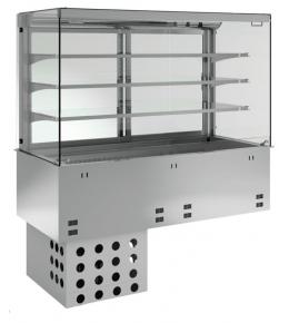 KBS Einbau-Kühlvitrine mit Kühlplatte P-EKVP 3A GN 2/1 - kundenseitig offen