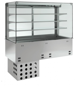 KBS Einbau-Kühlvitrine mit Kühlplatte P-EKVP 3A GN 3/1 - geschlossen