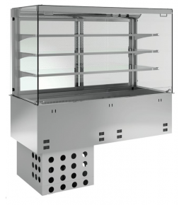 KBS Einbau-Kühlvitrine mit Kühlplatte P-EKVP 3A GN 3/1 - kundenseitig offen