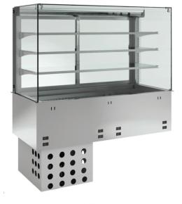 KBS Einbau-Kühlvitrine mit Kühlplatte P-EKVP 3A GN 4/1 - geschlossen