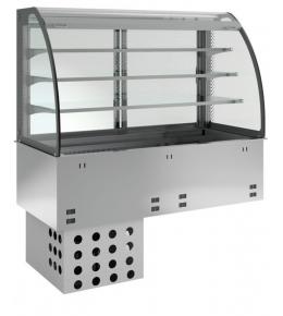 KBS Einbau-Kühlvitrine mit Kühlwanne E-EKVW 3A GN 2/1 - kundenseitig offen
