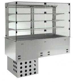 KBS Einbau-Kühlvitrine mit Kühlwanne P-EKVW 3A GN 3/1 - Selbstbedienung