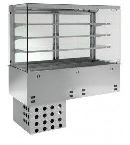 KBS Einbau-Kühlvitrine mit Kühlwanne P-EKVW 3A GN 4/1 - kundenseitig offen