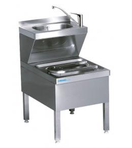 Chromonorm Handwasch-Ausgussbecken Kombination 600 mm tief