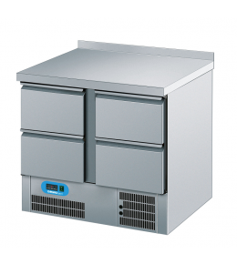 Chromonorm Kühltisch, 4 Schubladen