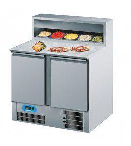 Chromonorm Pizzakühltisch, 2 Türen