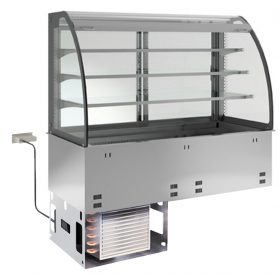 KBS Einbau-Kühlvitrine mit Kühlplatte E-EKVP 3A GN 5/1 - kundenseitig offen
