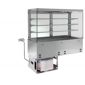 KBS Einbau-Kühlvitrine mit Kühlwanne P-EKVW 3A GN 5/1 - kundenseitig offen